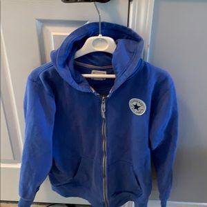 Converse blue hoodie